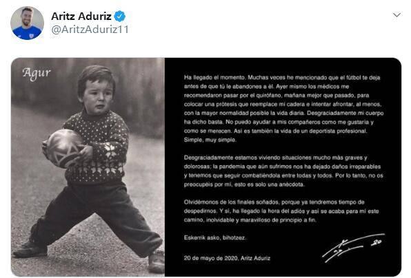 官方:39岁阿杜里斯宣布退役 倒钩绝杀巴萨成绝唱