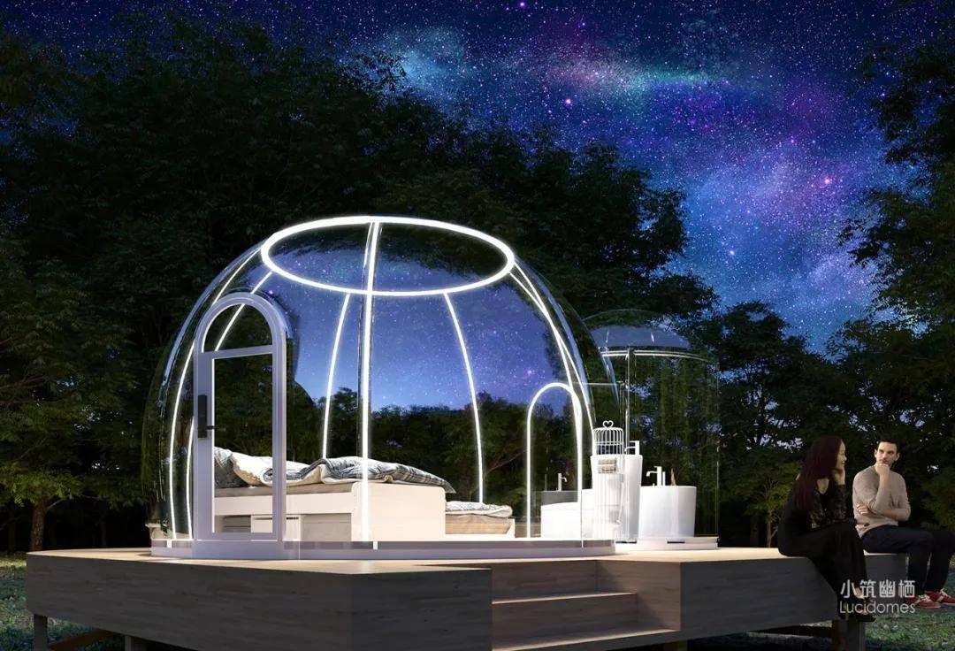 """原创             """"亲自然、轻度假""""—360°全透明星空房,躺着看星星、听鸟语缠绵!"""