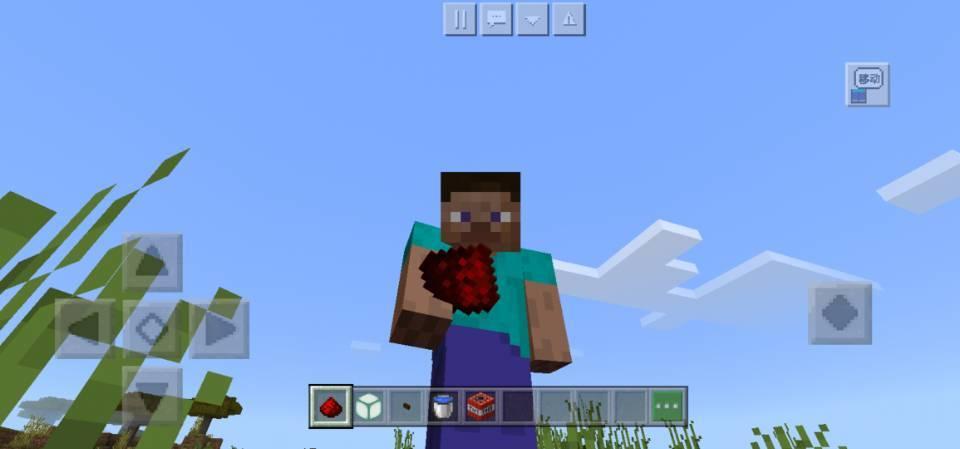 原创我的世界Steve实现飞天梦?最简单的红石装置,萌新也轻松拥有