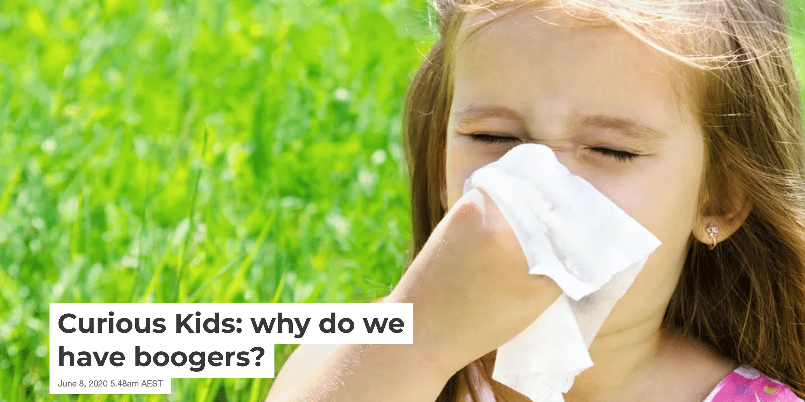 WHY|为什么我们会有鼻涕?五种鼻涕颜色预示身体状况