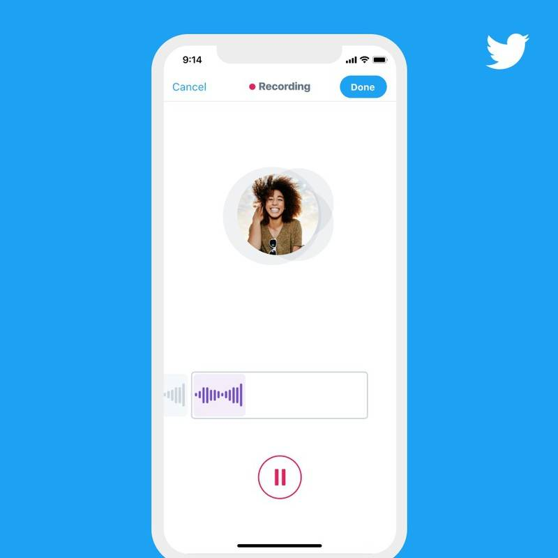 Twitter推出新的语音推文功能