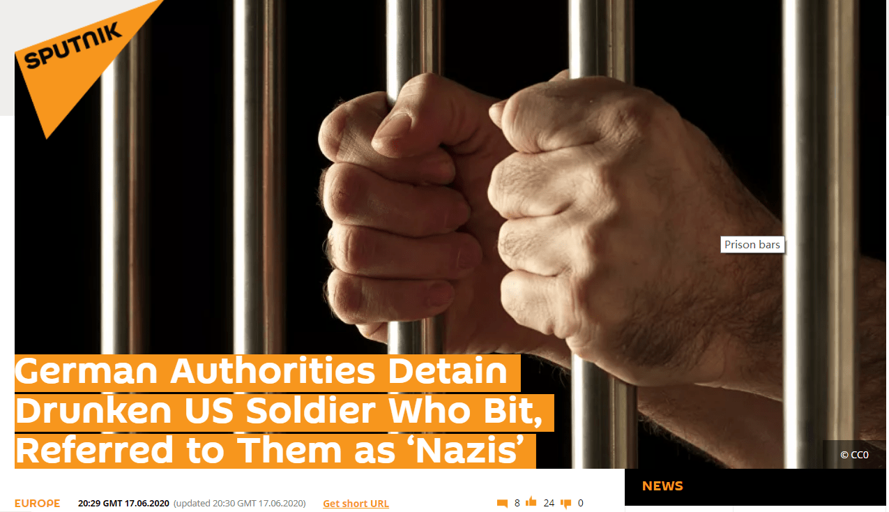 美军士兵大闹德警察,被捆绑双腿强行拖走:美军是时候离开德国了_德国新闻_德国中文网