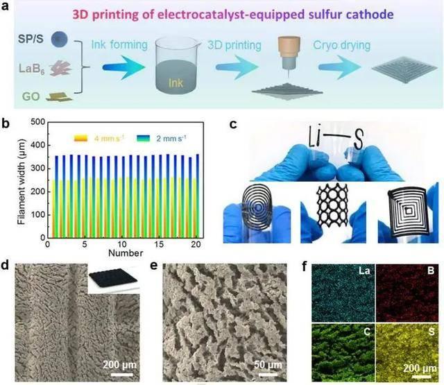 苏大孙靖宇团队通过3D打印技术实现高负载电极构筑等研究获系列进展