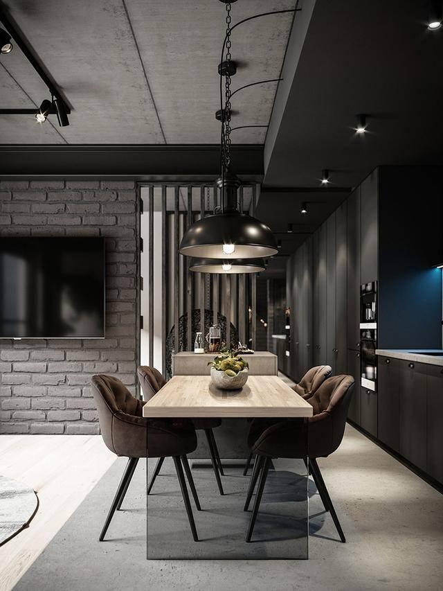 自带高冷范儿的工业风格家庭装修,看粗狂元素如何打造