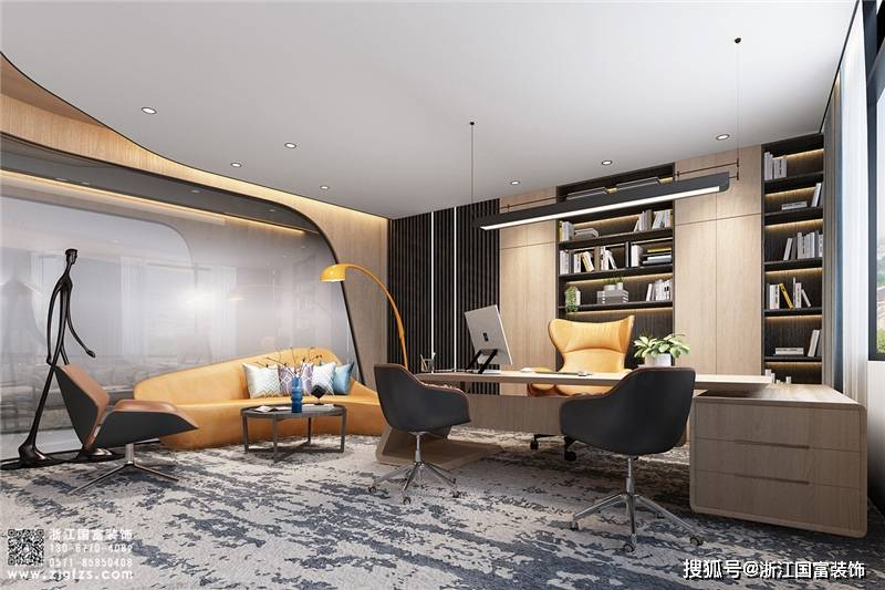 杭州企业普通办公装修设计案例赏析 杭州