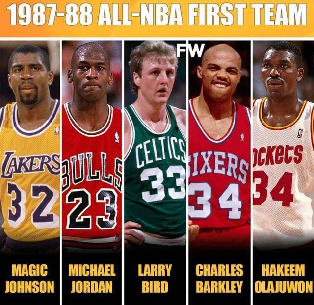13座MVP+16座总冠军!美媒晒1988年最佳一阵!球迷:历史最强