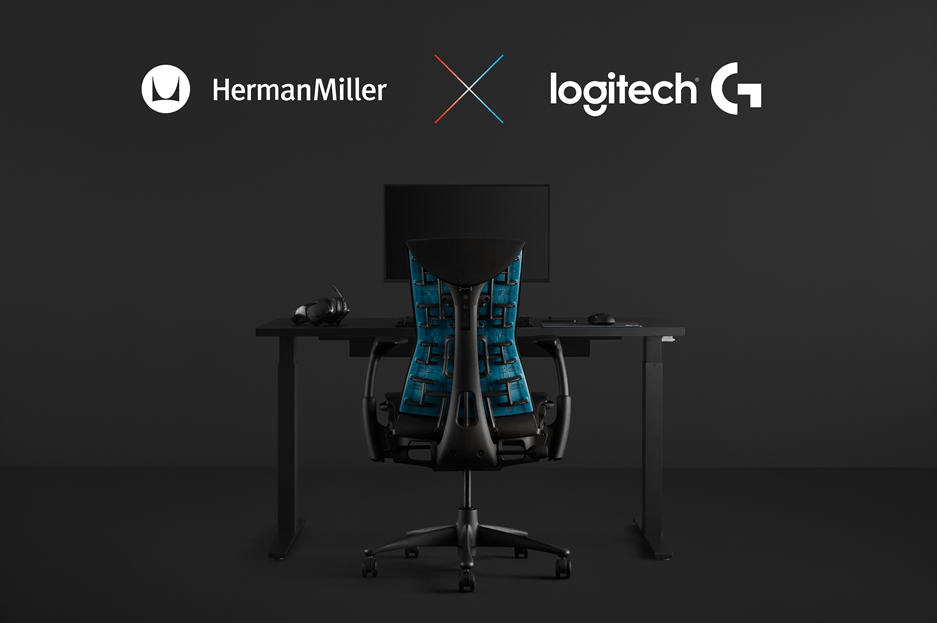 罗技G携手Herman Miller联合改进Embody座椅设计以满足玩家和主播的需求