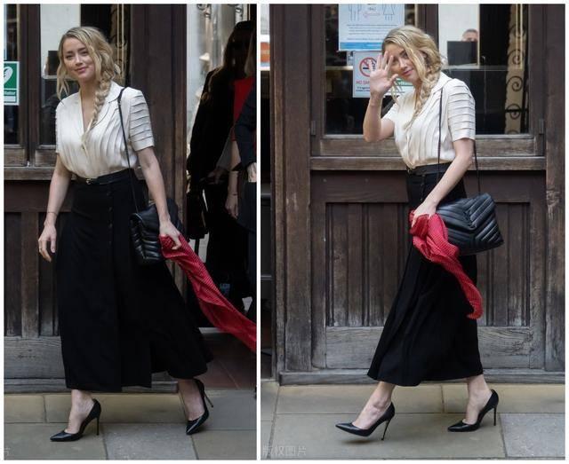 原创             打官司也要美!德普前妻Amber太会穿,不换鞋包凹出美艳出庭造型