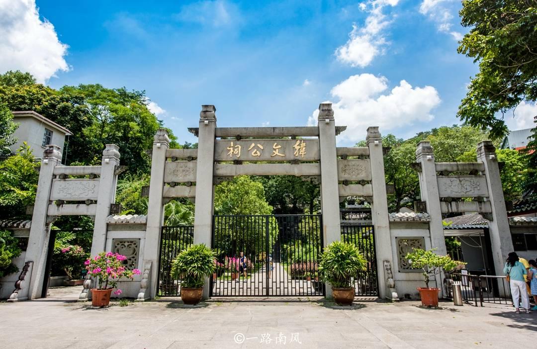 中國現存最早的韓愈祠,位于廣東潮州,現成知名免費景區