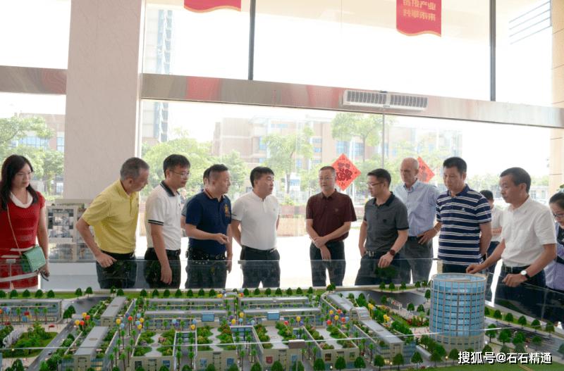 南安市委书记林荣忠率队赴水头考察石材机械配件展销城项目建设