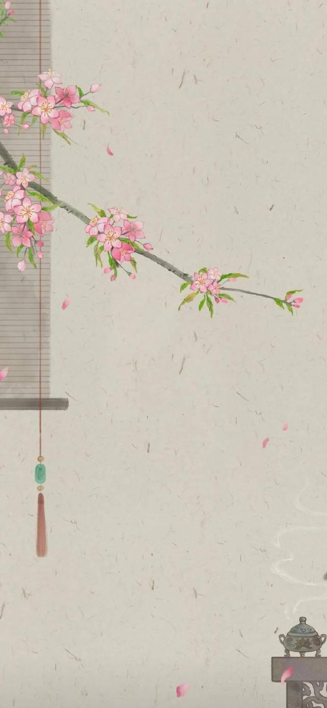 优美古风手绘插画高清手机壁纸 精选手机壁纸图片