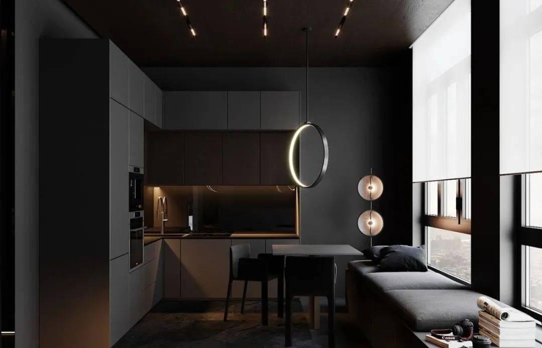西安装修设计课堂:极简至奢,高级黑公寓设计!????