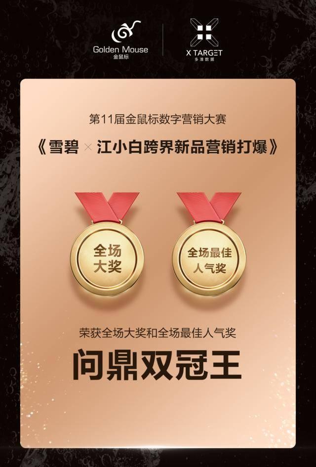 问鼎双冠王!多准数据营销案例荣获第11届金鼠标数字营销大赛全场两大奖!