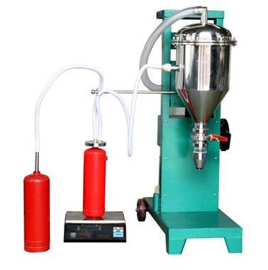 灭火器干粉灌装机的灌装方法