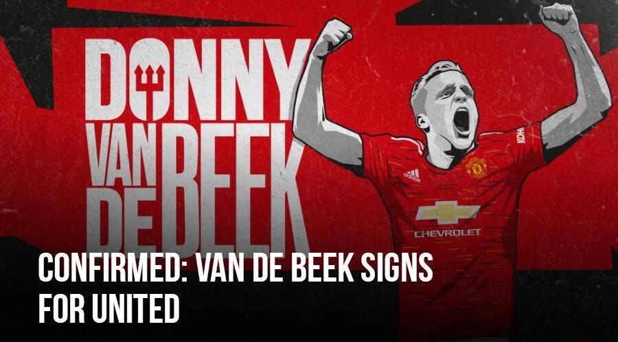 官方:曼联签下荷兰中场范德贝克 转会费3900万欧_足球新闻