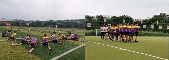 凡泰马术围栏:四川省马术队与省女子曲棍球队共同进行体能测试