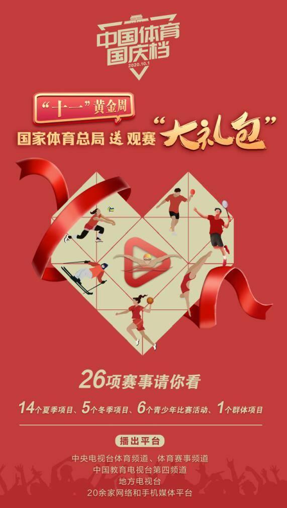 """乒乓全锦赛比肩冰雪盛宴""""中国体育国庆档""""十一登台"""