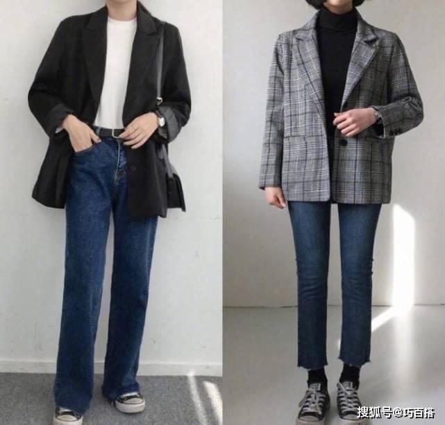 西装外套的18种穿搭造型!学会搞定秋季时尚,显瘦又显高