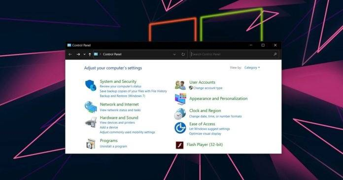 【Windows10最新版已將Flash從控制面板和安裝文件中刪除】
