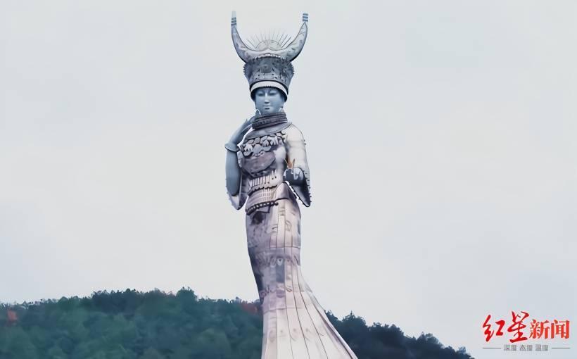"""恒达官网贫困县花8600万打造""""女神像"""",未用扶贫资金就没问题了?"""