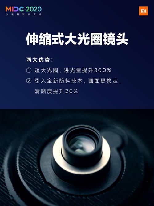 小米死磕硬核技术 伸缩式大光圈镜头技术首次曝光