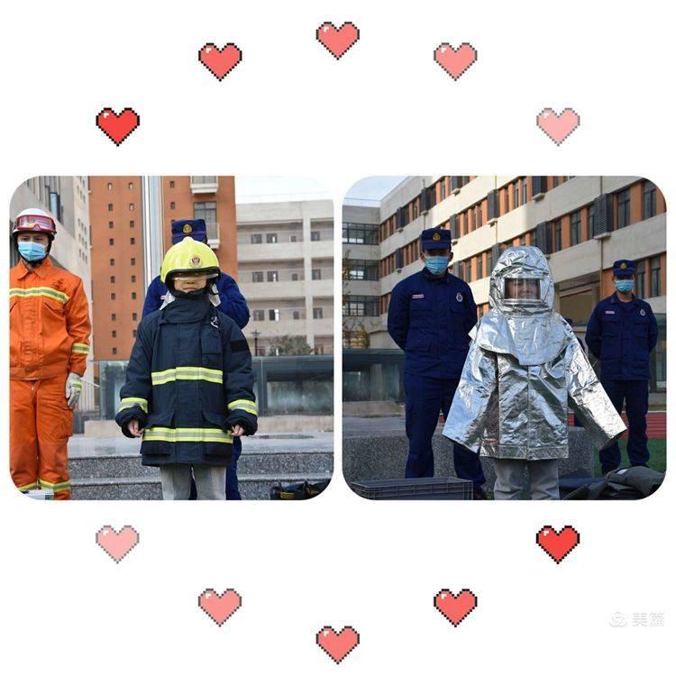 在众多消防救援工具中消防员重点为大家讲解了灭火器的使用方法,并演示灭火.
