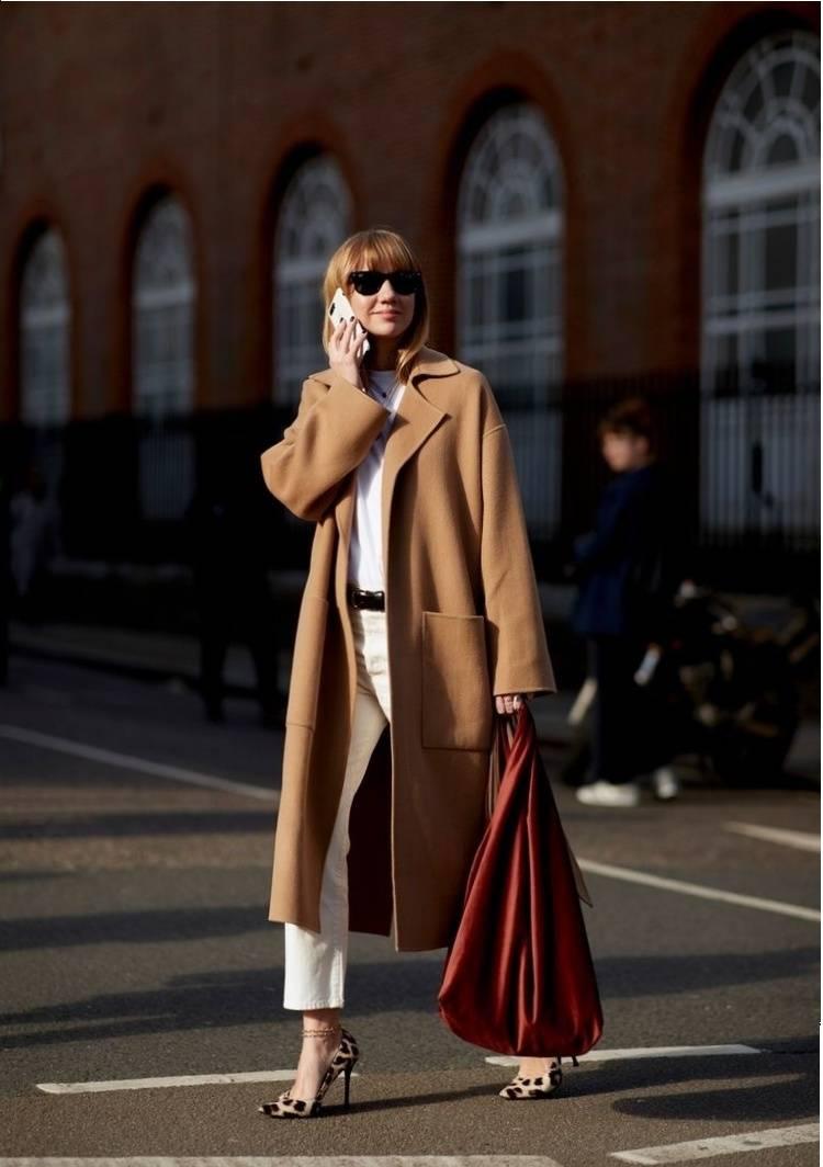 时尚又显瘦的翻领大衣,女明星也爱了