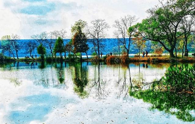 """原创             南京有许多著名的湖泊,要说""""绝"""",前湖和燕雀湖不得不提"""