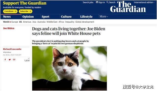 白宫迎新宠?拜登想要猫狗