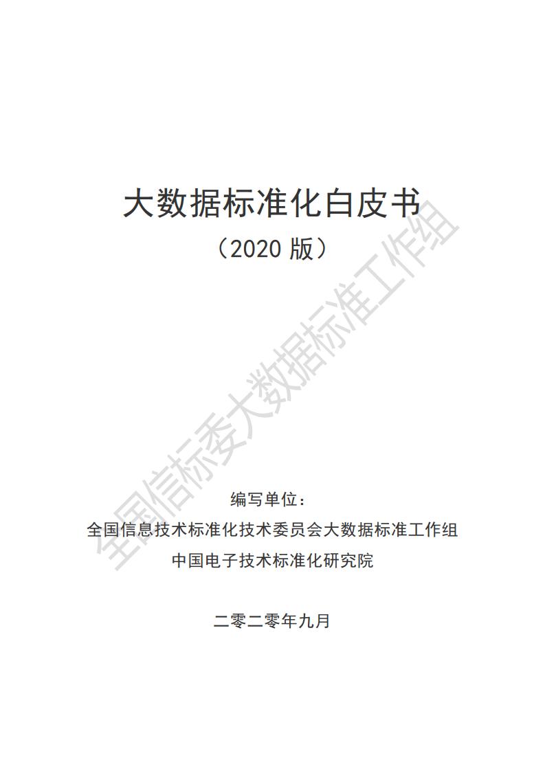 2020大数据标准化白皮书-信息技术研究中心