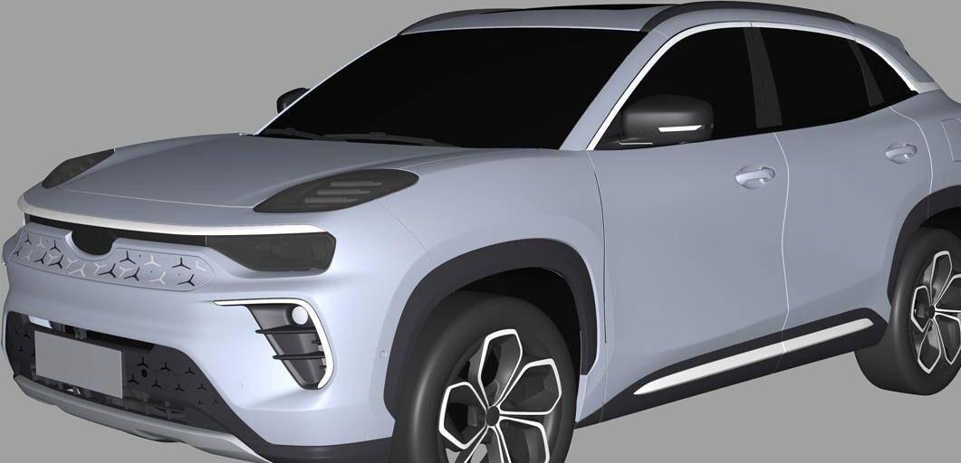 最初的第一款外观,奇瑞新能源SUV正式曝光,显然是基于星途LX的改进