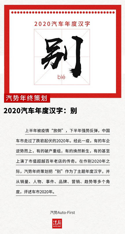 """2020汽车年汉字""""别""""的数字识别"""