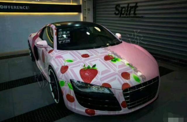 原来富二代很大方的把奥迪借给女朋友,过了几天就看到他的车蹭眼睛