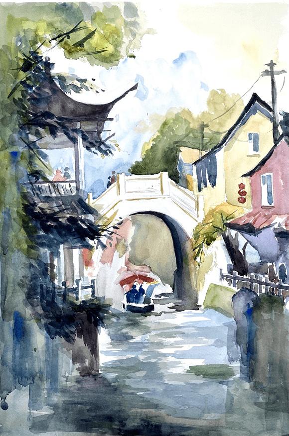 国家一级美术师黎韵琴——追求创作在意境上对表现的景物艺术升华