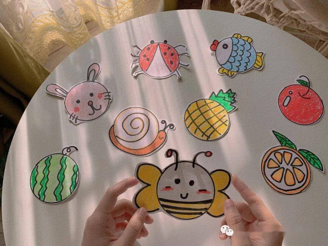 中班小手创意添画图片 儿童指印画教程◆肉丁儿童网