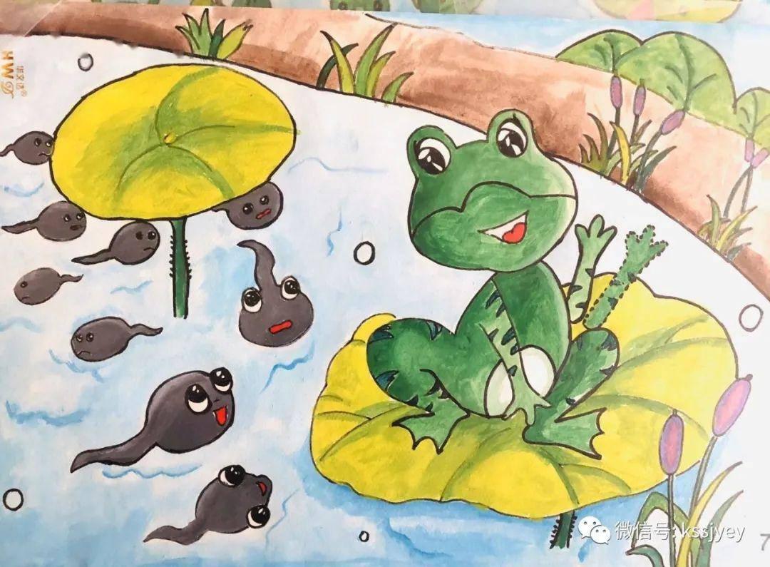 小蝌蚪开始不相信青蛙是它们的妈妈,但青蛙妈妈给了足够的时间去陪伴,一直陪伴到小蝌蚪变成小青蛙,终于,小蝌蚪相信了青蛙是它们的妈妈.图片