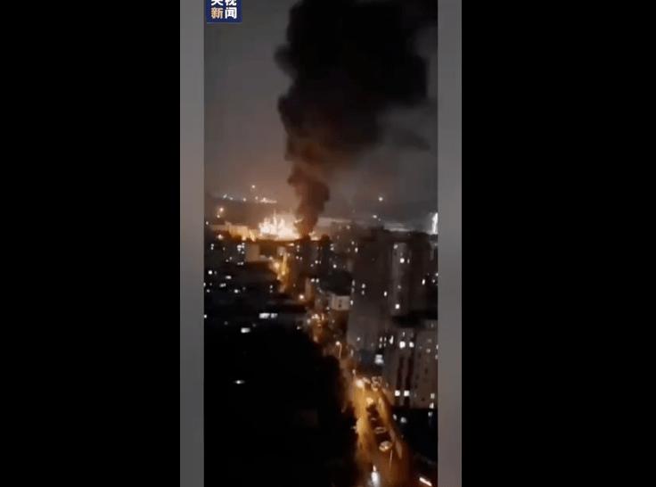 爆款!东北某石化厂发生爆炸起火!(带视频)