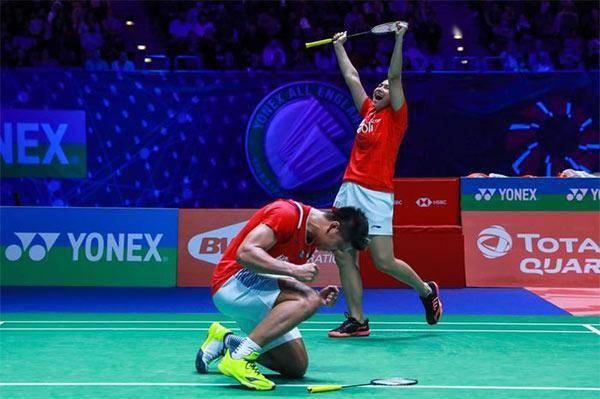 乔丹/梅拉蒂因在今年全英赛夺冠,获得印尼针计羽毛球俱乐部基金会提供的4亿印尼盾现金奖励