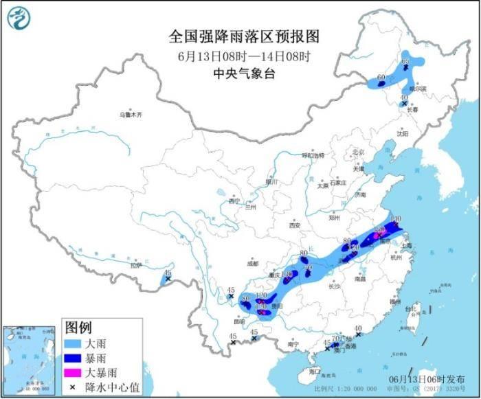 贵州江汉至沿淮一线有强降雨 东北