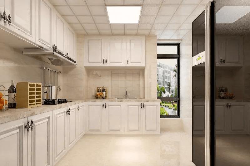 特别是对于厨房,不需要太复杂的设计,更需要的是大面积的无阻碍的操作图片
