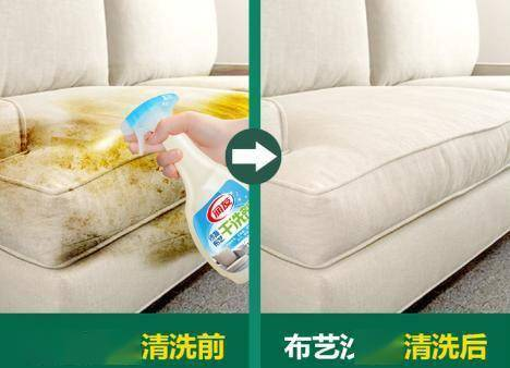 沙发又脏又难洗吗?家政模式传授4招,无需拆卸