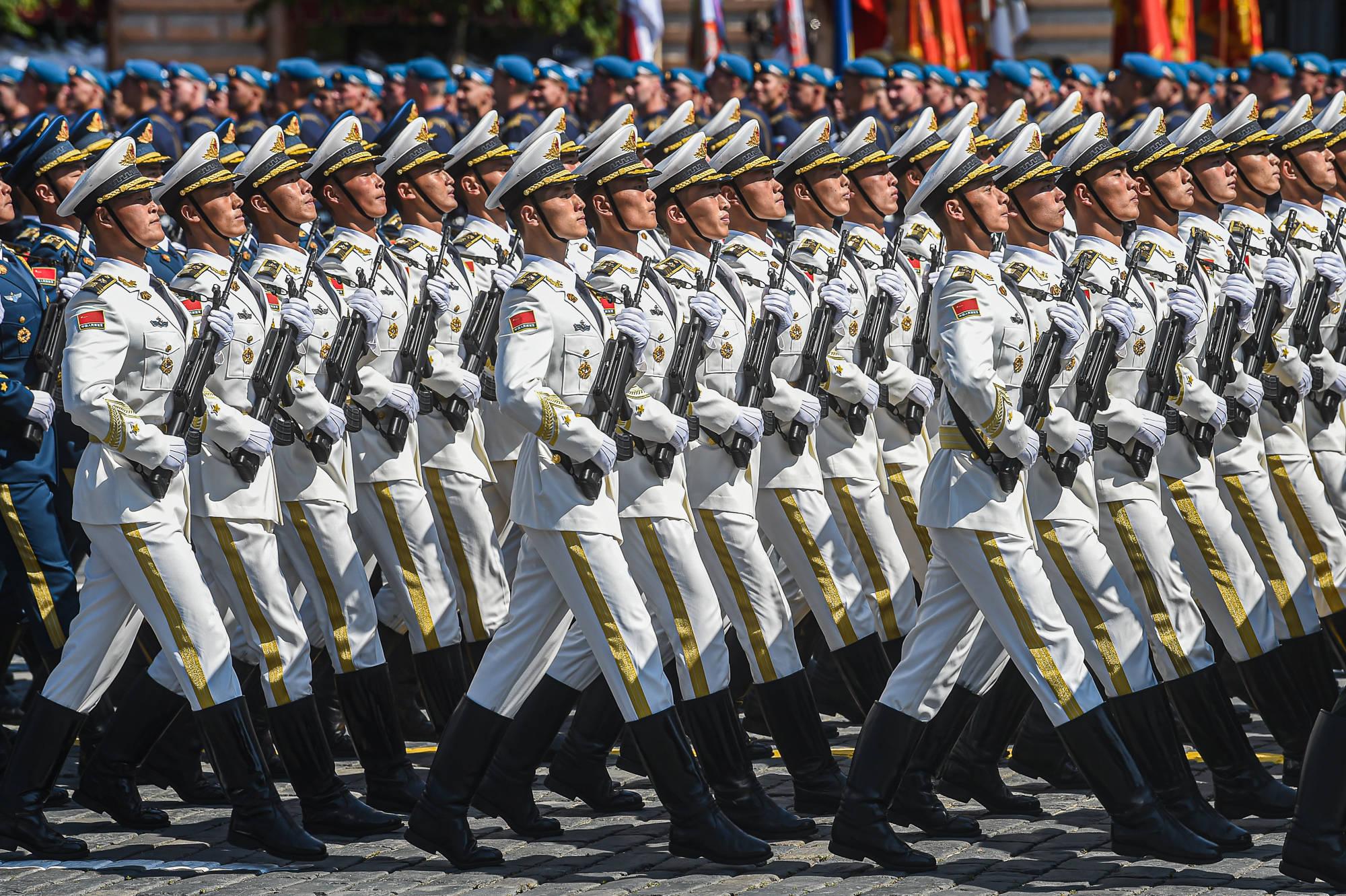 中国人民解放军仪仗方队参加俄罗斯胜利日阅兵