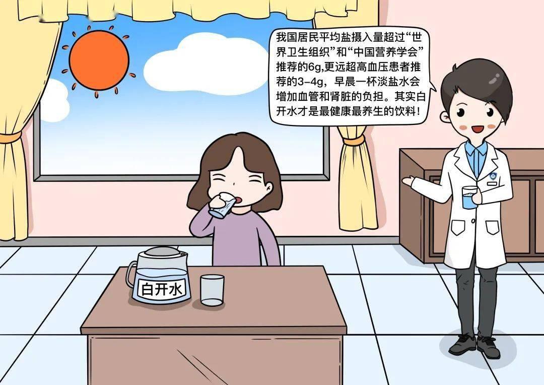 【健康辟谣日历】晨起一杯淡盐水,健康又长寿?