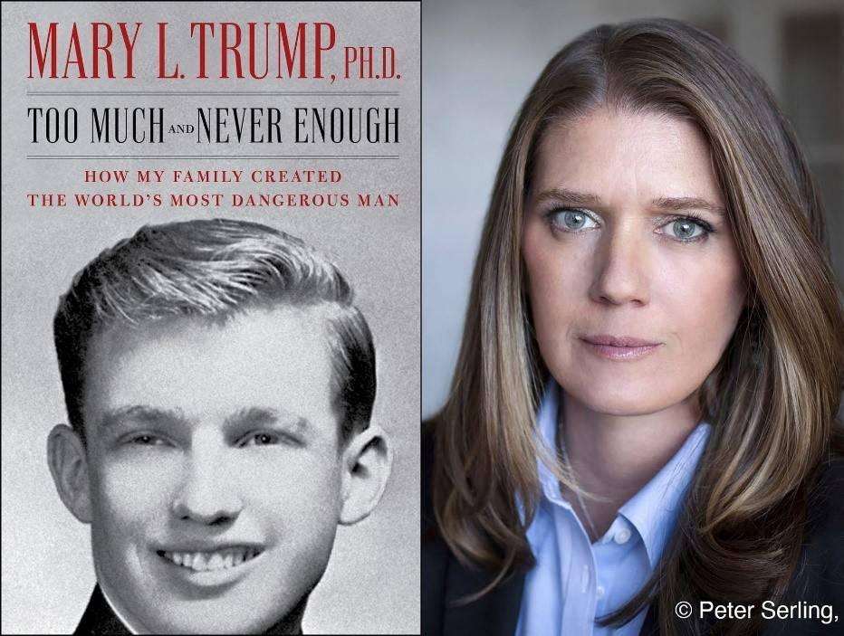 """玛丽·特朗普新书单周销量130万册,""""不能让唐纳德毁掉我的国家"""""""
