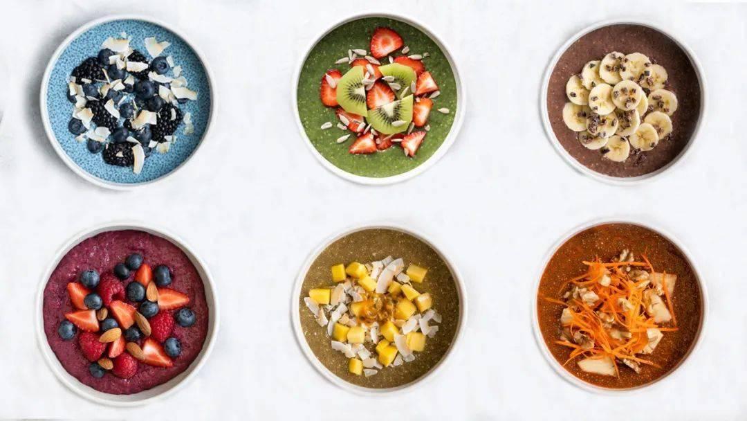 6款奇亚籽布丁!10分钟搭配出彩虹营养早餐!