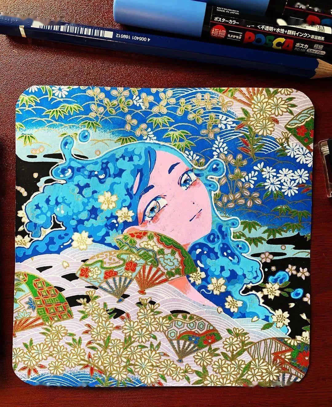 哇 马克笔画出水彩般效果,装饰感太强了,简单又漂亮,收藏 颜色