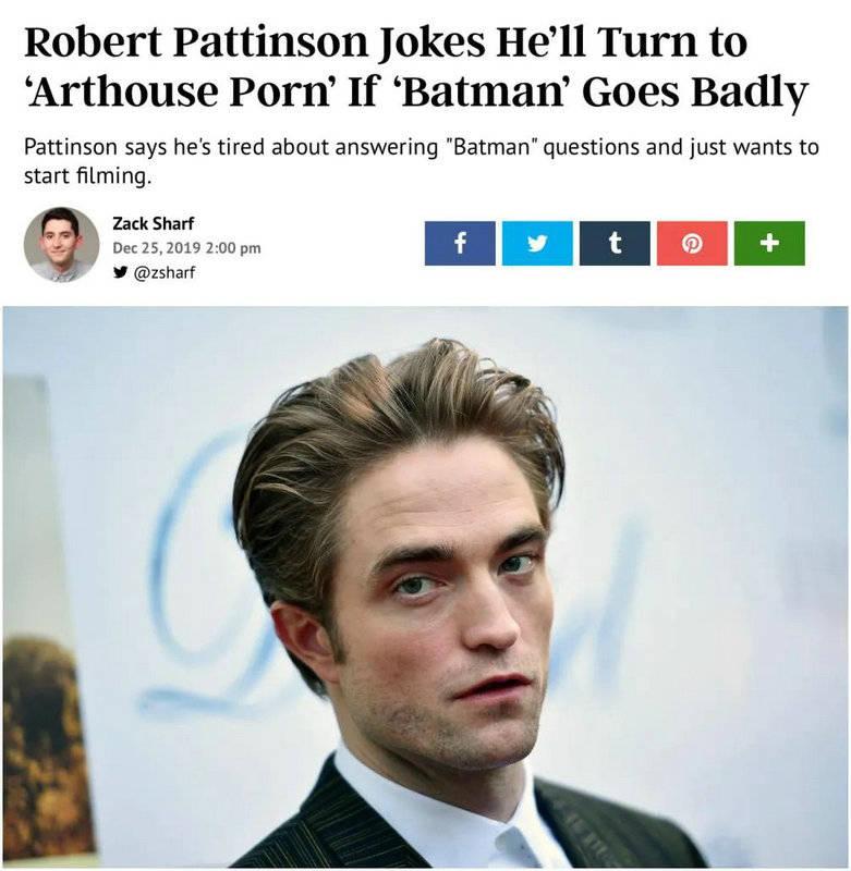 《蝙蝠侠》男主罗伯特确诊新冠 因《暮光之城》走红