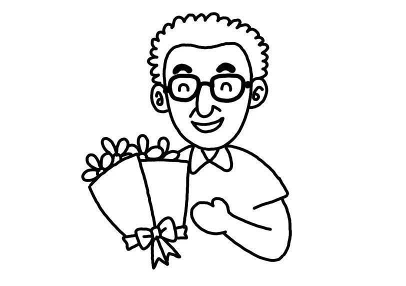 教师节简笔画,一张贺卡给老师送上满满的祝福