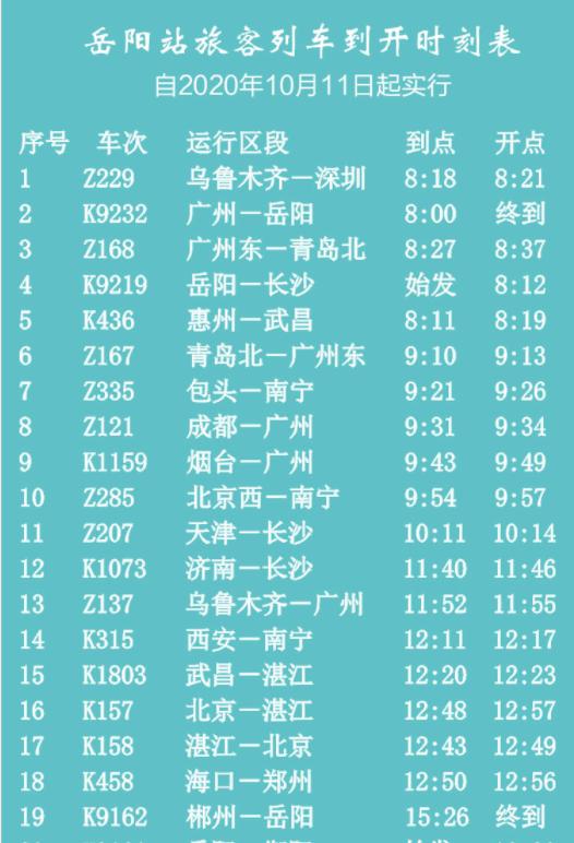 重要提醒!从今天开始,多趟岳阳次列车调整或停运。