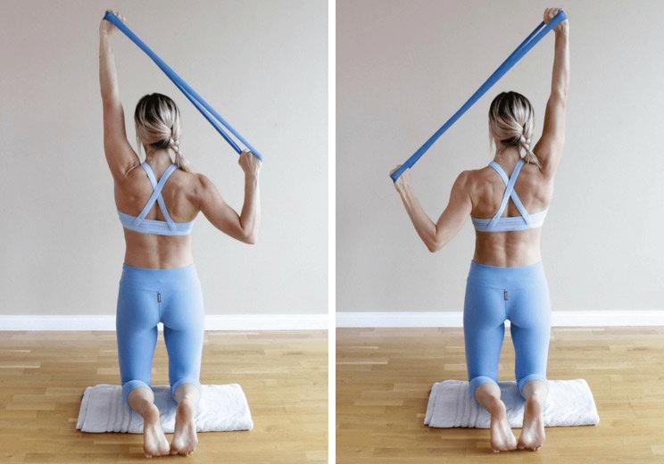 练瑜伽,双手上举时耸肩怎么办?
